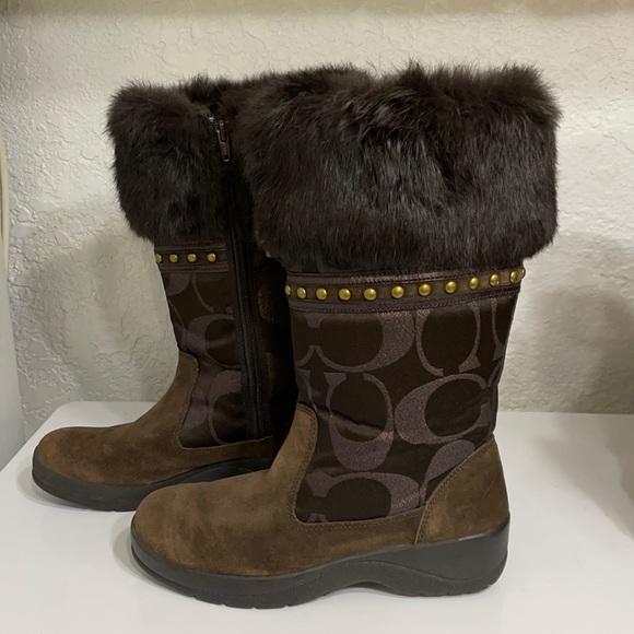 Coach Lesly Faux Fur Winter Signature Boot